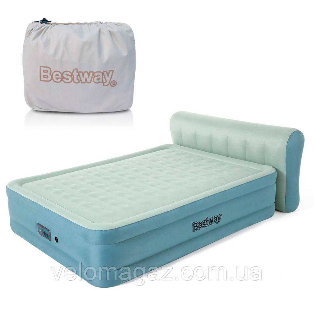 Надувне ліжко двоспальне 152*229*43 (79) см з вбудованим насосом і USB-портом BESTWAY 69060