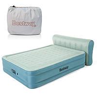 Надувне ліжко двоспальне 152*229*43 (79) см з вбудованим насосом і USB-портом BESTWAY 69060, фото 1