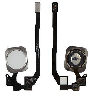 Шлейф для iPhone 5S, iPhone SE, кнопки Home, белый