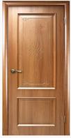 Двері ПВХ Вилла ПО 2000х800х35мм Золота вільха з малюнком