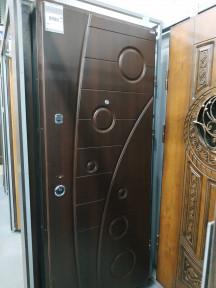 """Двері металеві Моноліт Б-257"""" 860 праві, горіх темний"""