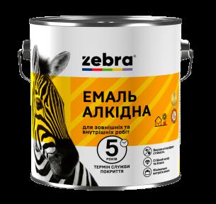 Емаль алкідна 2,8кг ПФ-116 ЗЕБРА 55 Яскраво-жовтий