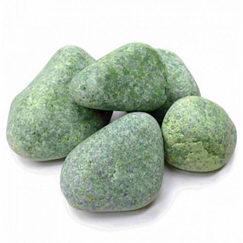 Камень для бани жадеит средний в мешке 10 кг Хакасия (шлифованный)