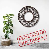 Настінне панно з дерева Завитки 50х50 см