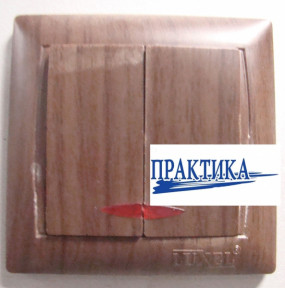 Вимикач  PRIMERA 2 кл. з підсвіткою вишня  3906