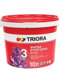 Фарба 10л Інтер'єрна глибокоматова ТРІОРА