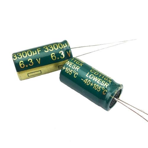10x Конденсатор електролітичний алюмінієвий 3300мкФ 6.3В 105С