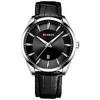 Мужские Наручные Часы Классические Curren 8365 Black Кварцевые с Черным Циферблатом