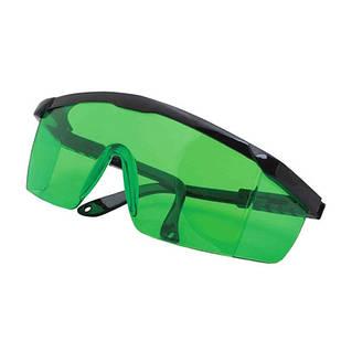 Очки зеленые усиливающие защитные для лазерного гравера, уровня