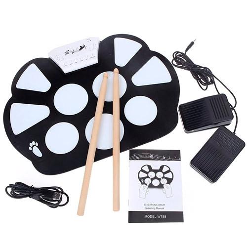 Електронні барабани USB гнучкі барабанна установка педи Konix W758