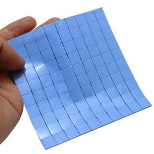 10x Термопрокладка под радиатор 10x10x1мм, силикон