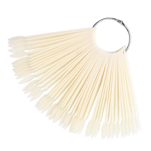 Палитра веер на кольце для 50 образцов лака дизайна ногтей, натуральная