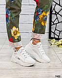 Стильные кроссовки женские итальянская кожа, фото 6