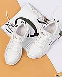 Стильные кроссовки женские итальянская кожа, фото 7