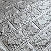 Декоративная 3Д-панель 5 шт. стеновая Серебро Кирпич (самоклеющиеся 3d панели для стен оригинал) 700x770x7 мм