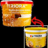 Фарба 3л фасадна латексна з підв.покриваністю ТРІОРА