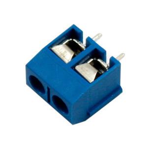 Клеммная колодка на 2 контакта, шаг 5мм KF301-2P
