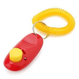 Кликер с кнопкой и браслетом для дрессировки собак