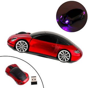 Бездротова миша Porsche, мишка машинка, червона