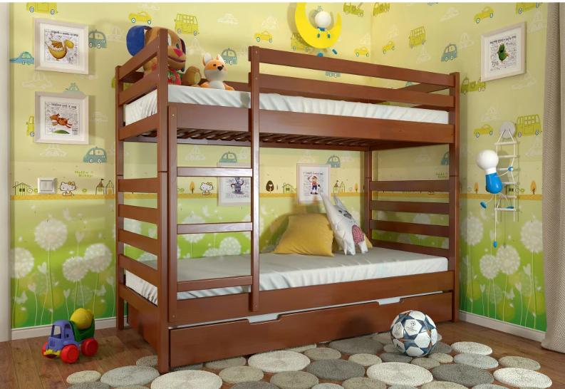 """Двоярусне дитяче ліжко """"Ріо"""" яблуня локарно. ТМ Арбор Древ. Акція -10%"""
