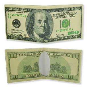 Кошелек, бумажник, портмоне, старых 100 долларов