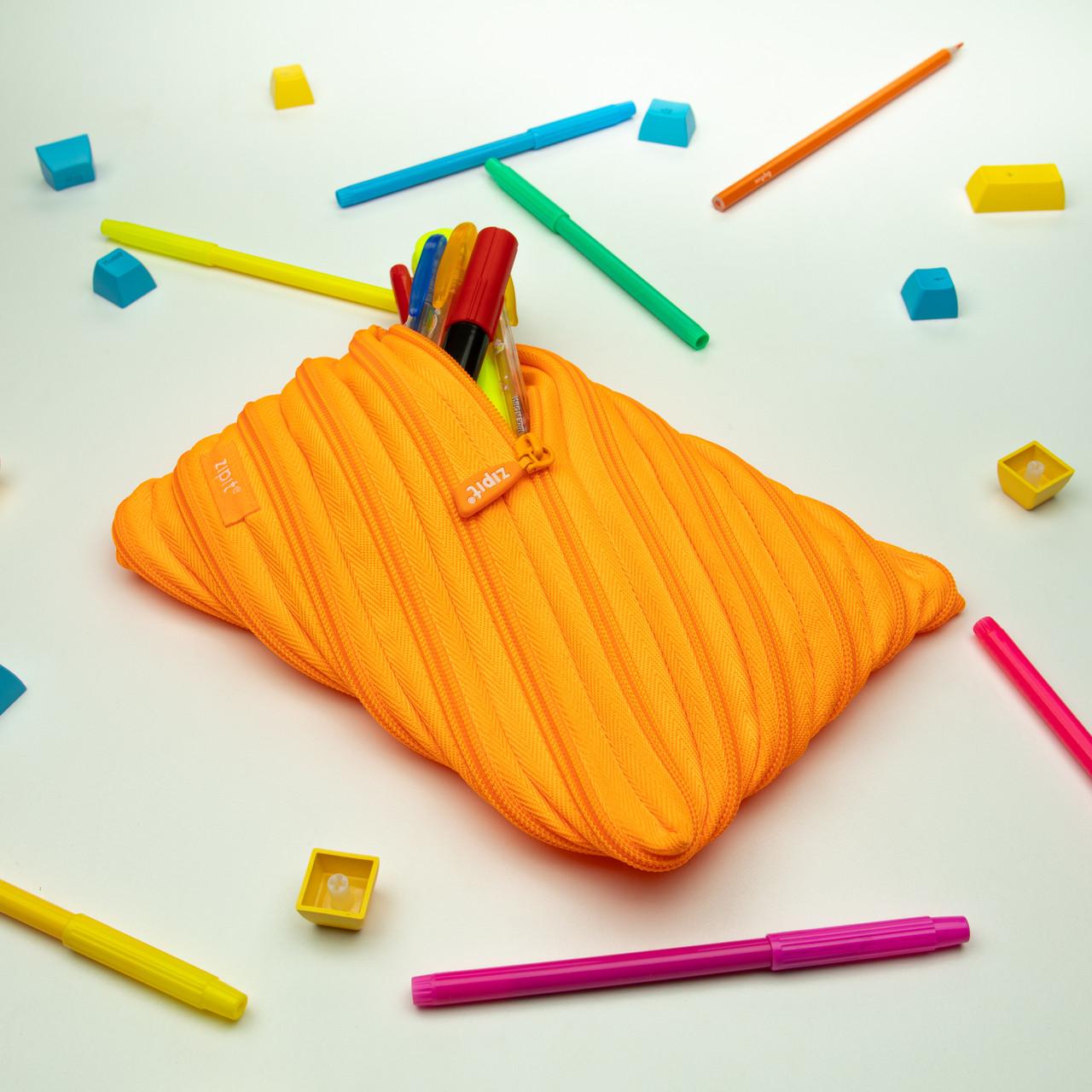 Пенал ZIPIT NEON JUMBO, колір CRAZY ORANGE (помаранчевий)