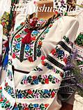 Повсякденна жіноча вишиванка із кольоровою вишивкою «Весняний віночок», фото 2