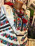 Повсякденна жіноча вишиванка із кольоровою вишивкою «Весняний віночок», фото 3