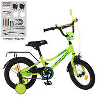 Велосипед дитячий PROF1 12д Y12225 салатовий Prime для дітей від 3 років