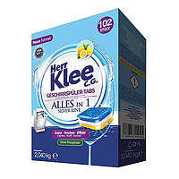 Таблетки для посудомийних машин Herr Klee Geschirrspuler-Tabs Lemon 102 шт., фото 1