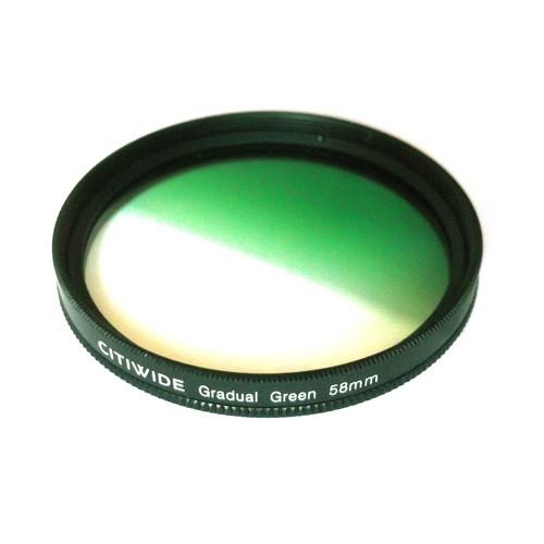 Цветной фильтр 58мм зеленый градиент, CITIWIDE