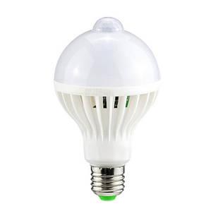 Лампа светодиодная с датчиком движения E27, 9Вт LED