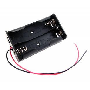 Бокс на две 18650 батареи, 7.4 В, питание Arduino