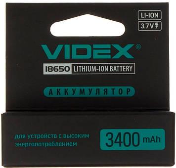 Акумулятор Videx Li-ion 18650-R,3400mAh,захист
