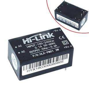 Преобразователь напряжения компактный AC-DC 220В-5В 0.6А HLK-PM01