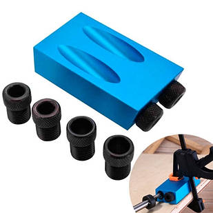 Меблевий кондуктор для свердління отворів під косий шуруп під кутом