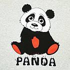 Размер S на 44й Футболка Женская Серого Цвета с Принтом и Надписью Panda, Летние Футболки, Модные Футболки., фото 3