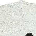 Размер S на 44й Футболка Женская Серого Цвета с Принтом и Надписью Panda, Летние Футболки, Модные Футболки., фото 5