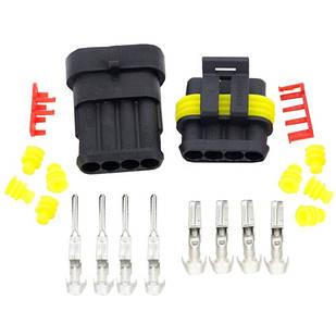 Разъем автомобильный электрический герметичный DJ7041-1.5 комплект 4pin