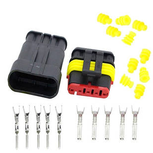 Разъем автомобильный электрический герметичный DJ7051-1.5 комплект 5pin