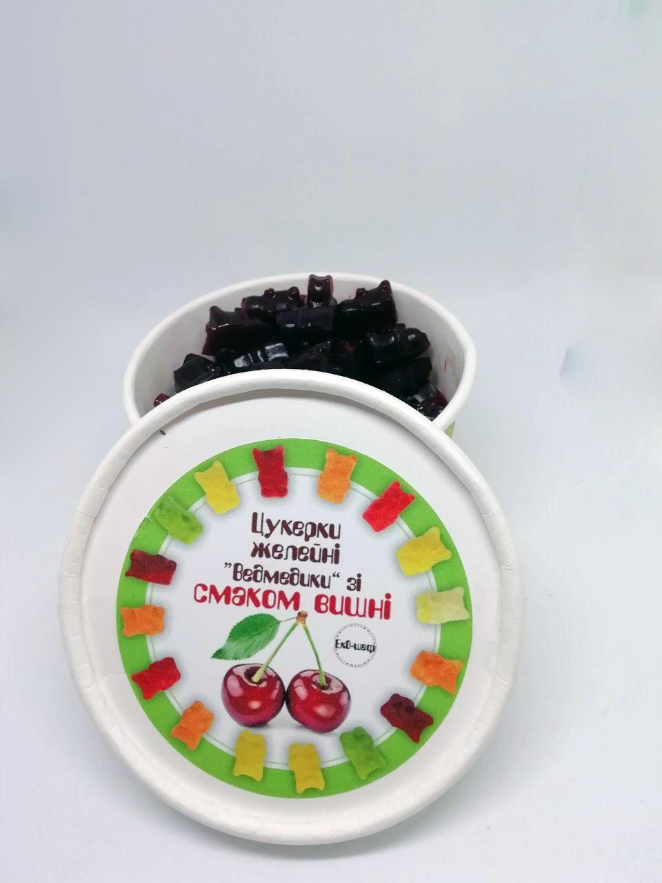 Натуральні желейні цукерки з вишневого соку