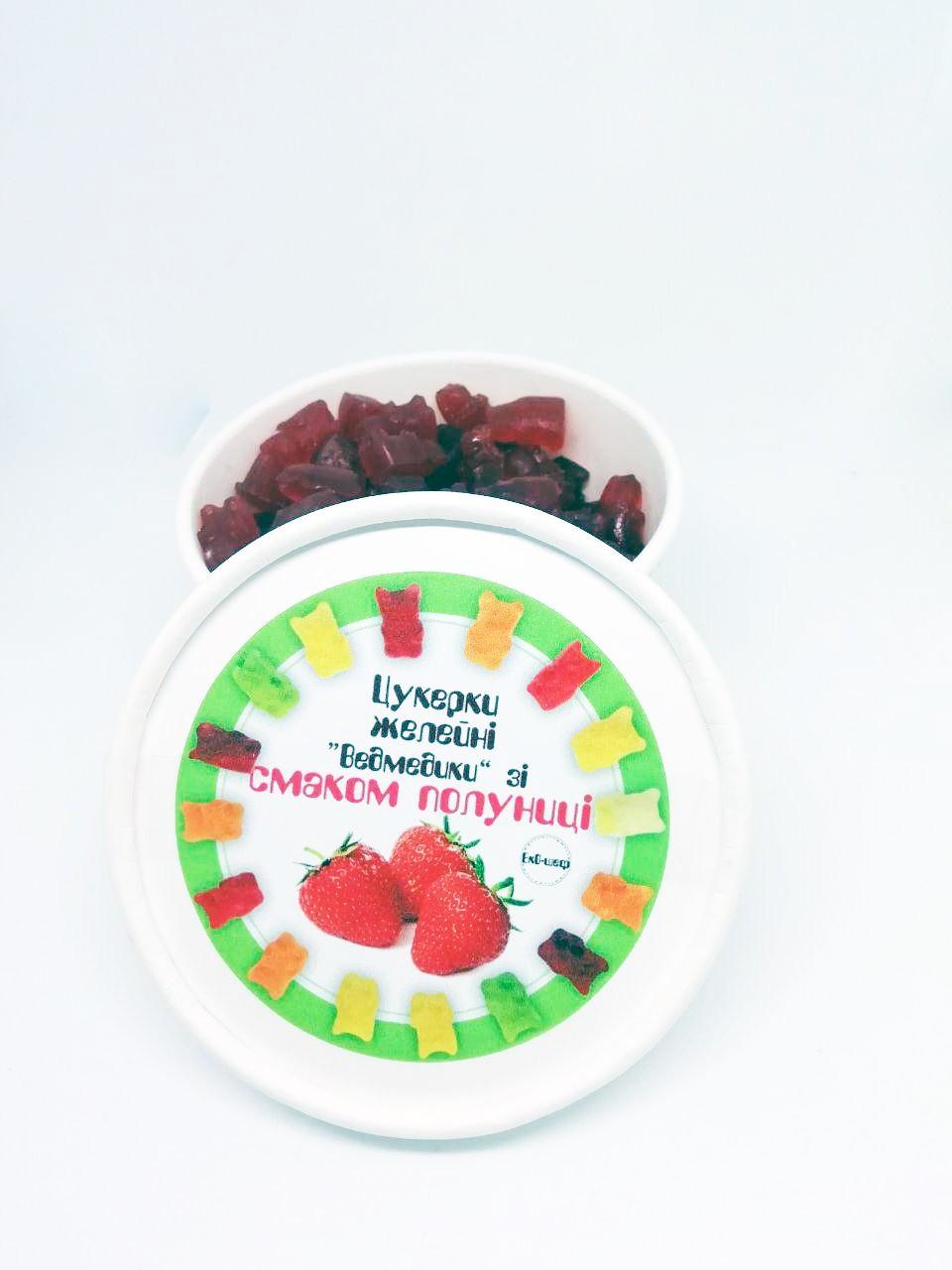 Натуральні желейні цукерки з полуничного соку