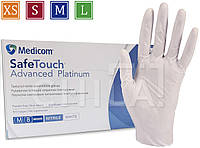 Нитриловые перчатки белые 4г/м² (100шт/уп) Медиком SafeTouch® Platinum White