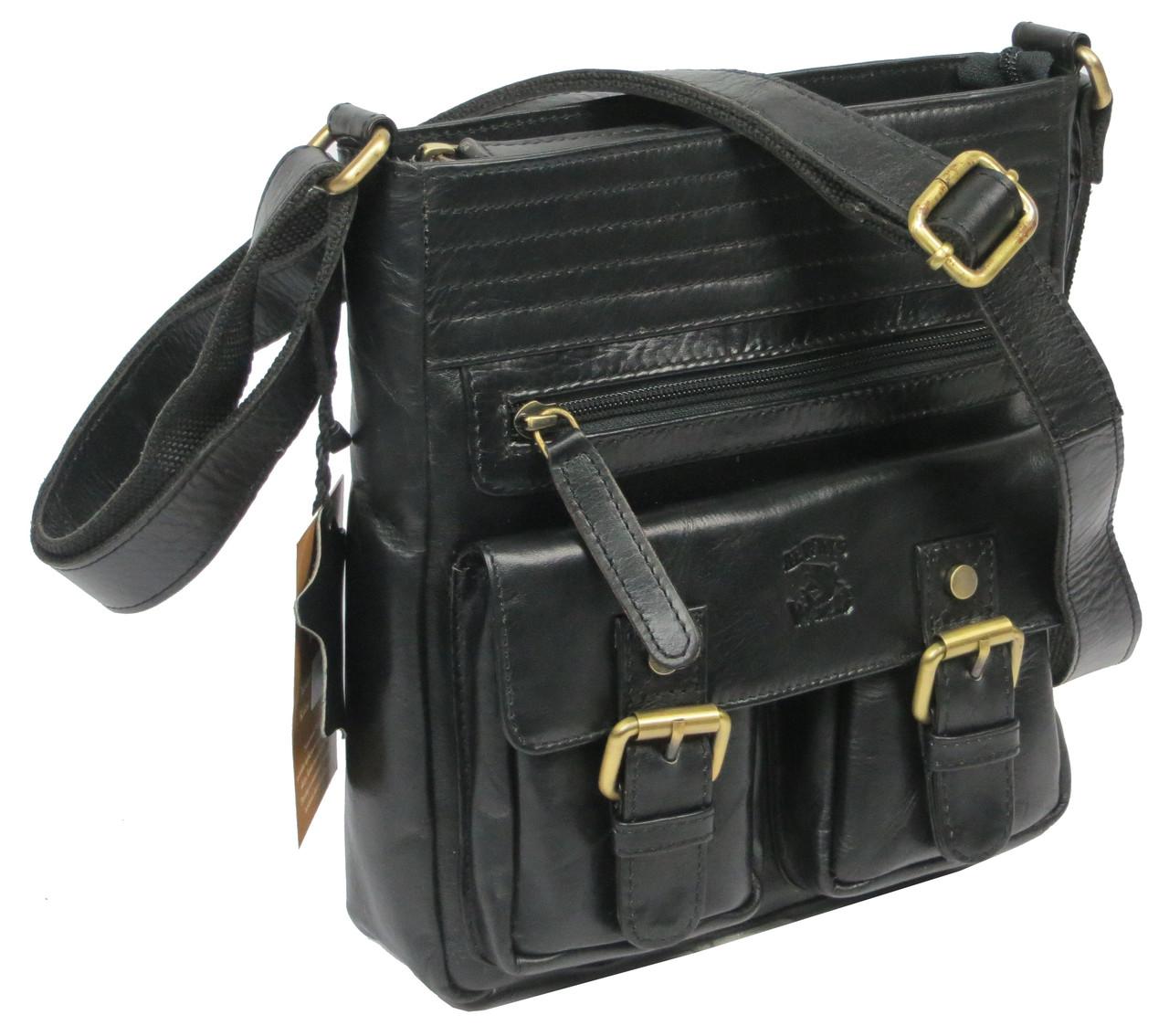 Мужская кожаная сумка Always Wild C48.0525 черная