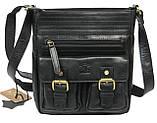 Мужская кожаная сумка Always Wild C48.0525 черная, фото 4