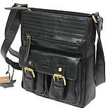 Мужская кожаная сумка Always Wild C48.0525 черная, фото 5