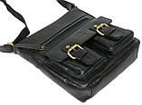 Мужская кожаная сумка Always Wild C48.0525 черная, фото 8