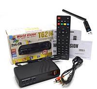 +WiFi  2db Цифровой TV-тюнер DVB Т2\C тюнер World Vision T62М2-32 канала  AC3 IPTV ,YouTube ,Megogo+кабельHDMI