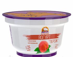 Йогурт Персик 150г 10% ТМ Ама