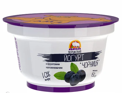 Йогурт Чорниця 125г 2,5% ТМ Ама